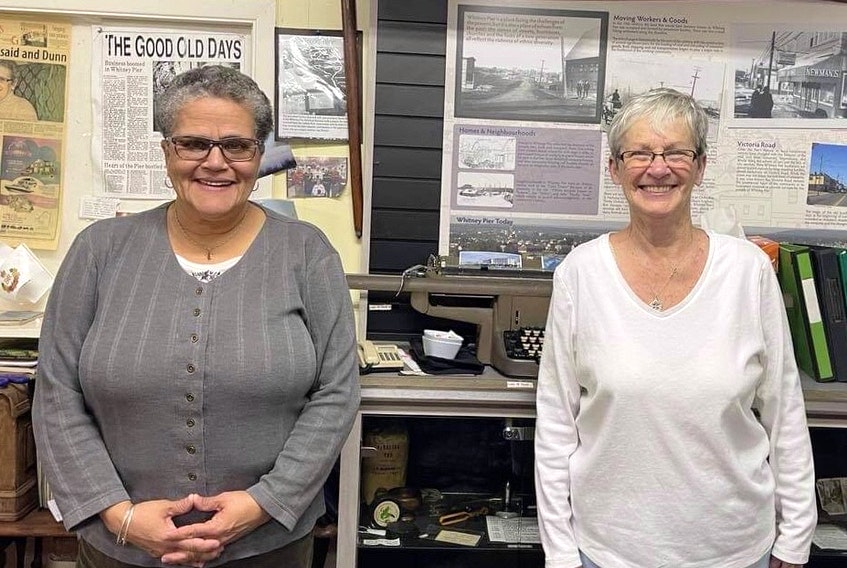 Election of officers for the Whitney Pier Historical Society took place on Feb. 11. Shown on the left is the new president Pam Parris with returning vice-president Helen Carroll Donnelly. CONTRIBUTED