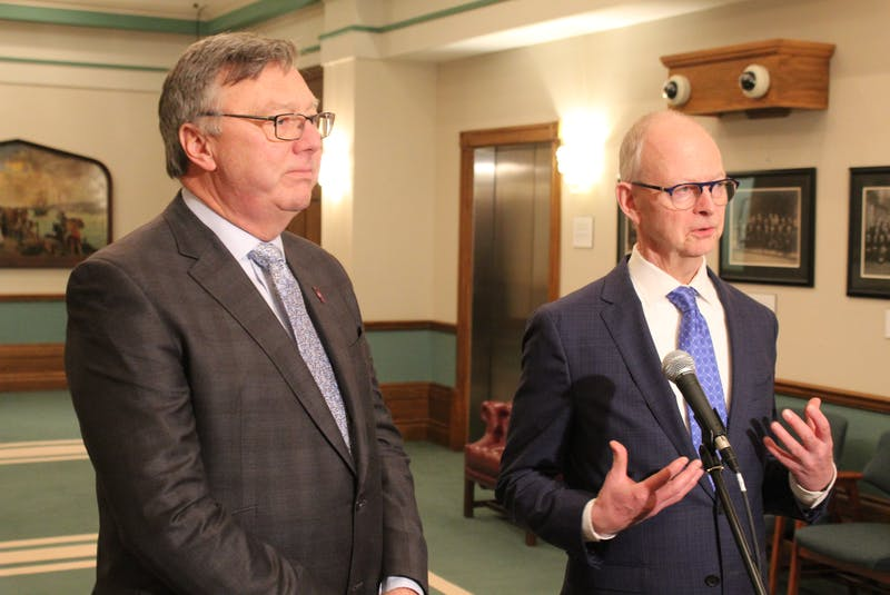 Tory MHA Tony Wakeham (left) and Party Leader Ches Crosbie. - SaltWire Network File Photo