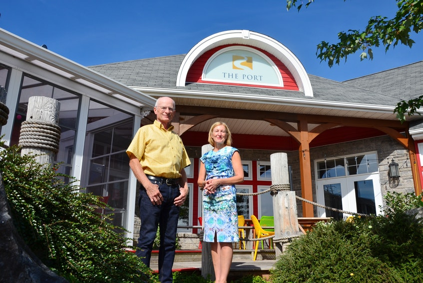 Port Pub and Bistro co-managing directors David Acton and Lois Bowden standing outside of the Port Williams establishment. The business has celebrated a significant milestone: one million customers served. KIRK STARRATT