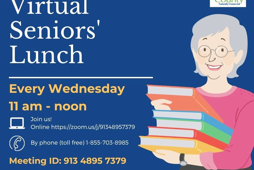 A virtual lunch for seniors is among the activities underway to stay connected to Victoria County seniors. CONTRIBUTED
