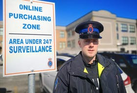 RNC media relations officer, Const. James Cadigan, says the online purchasing zones at their headquarters on Parade Street were established to deter criminal activity and let potential buyers feel safe inspecting any items they're purchasing from strangers met online. -Andrew Waterman/The Telegram