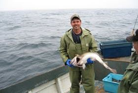 Mervin Hollett of Arnold's Cove fishes for Atlantic cod in Placentia Bay, in the 3Ps zone.