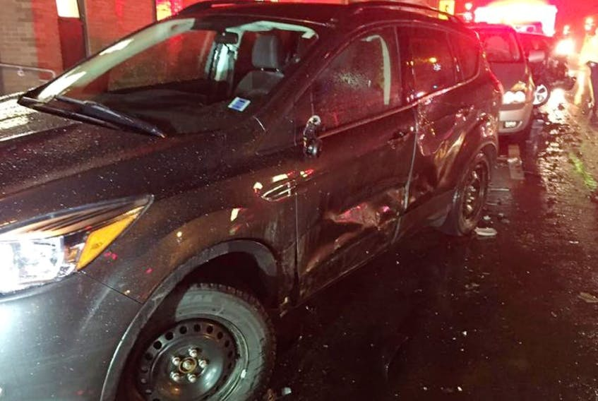 RCMP are in the process of recovering evidence from a suspect vehicle to tie it to the scene of a Dec. 2 hit-and-run incident on Main Street that left several cars heavily damaged.