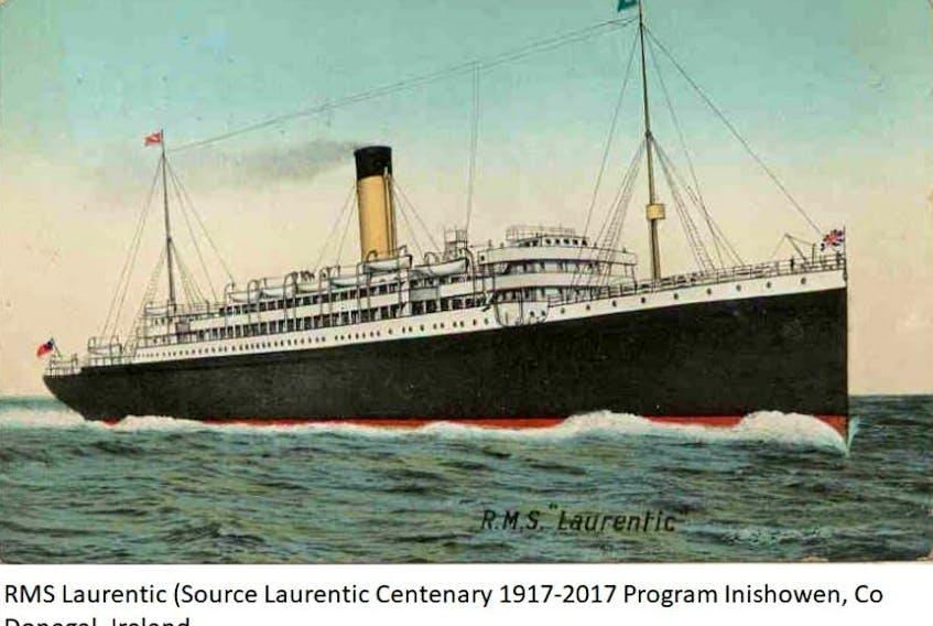 The RMS Laurentic.