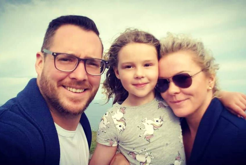 (From left) Jason Piercey, Cori Piercey and Lisa Piercey. Jason and Lisa separated a year and a half ago. — CONTRIBUTED PHOTO