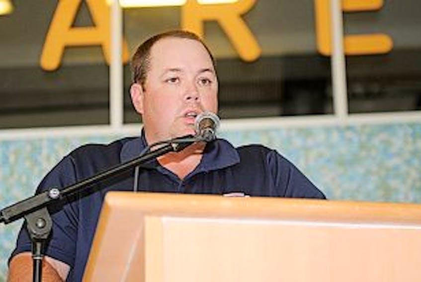 ['Summerside D. Alex MacDonald Ford Western Capitals general manager Pat McIver.']