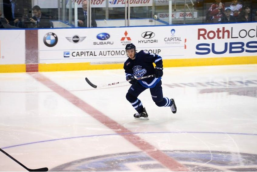 On Sunday morning,Patrick Holland was a member of the MontrealCanadiens organization.By mid-afternoon he was traded to the Jets and making his debut with the St.John's IceCaps.