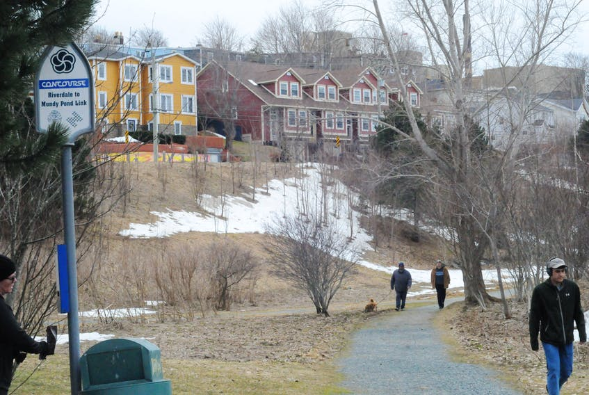 A section of trail near the Elk's Club on Carpasian Road is expected to be included in the Kelly's Brook Shared Use Path. Council recommends the entire trail be paved with asphalt. — JOE GIBBONS/The Telegram
