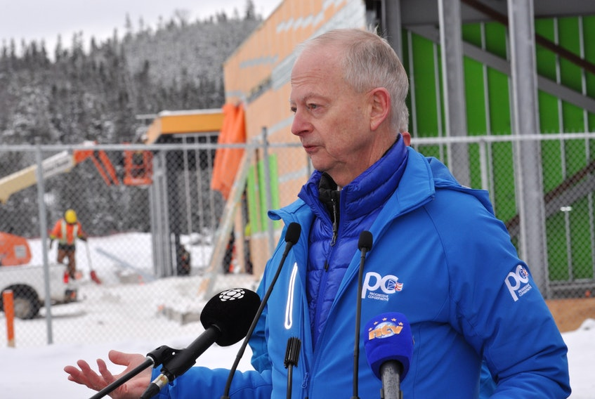 PC Leader Ches Crosbie said a PC government will ensure that a PET scanner is in the new regional hospital being built in Corner Brook on day one when it opens. Crosbie made the promise at the site of the build on Tuesday.