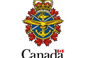 Canadian Armed Forces tri-service badge.
