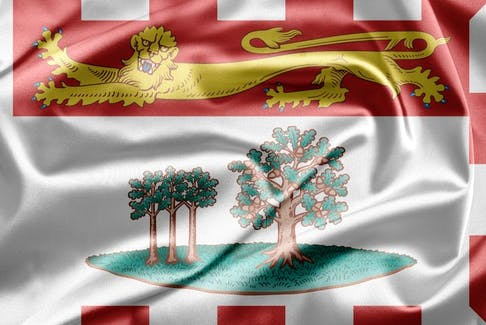 P.E.I. flag.