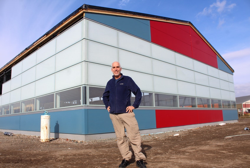Protocase co-founder Doug Milburn stands in front of the new home for 45Drives, the IT infrastructure and enterprise storage solution division of the Cape Breton company. Construction began this summer and is expected to conclude by February. GREG MCNEIL/CAPE BRETON POST