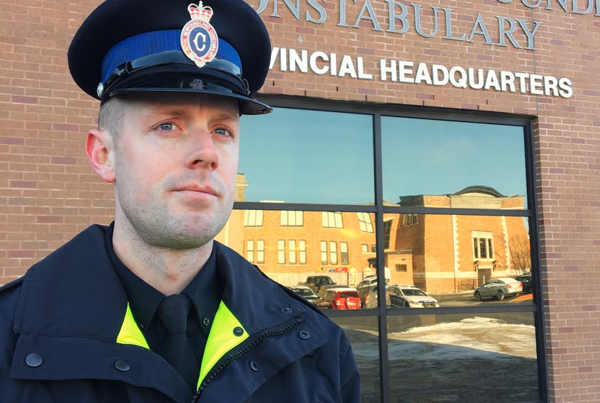 Const. James Cadigan said the RNC is taking several measures to ensure the safety of its front-line workers and prevent the spread of COVID-19. — ROSIE MULLALEY/Telegram file photo