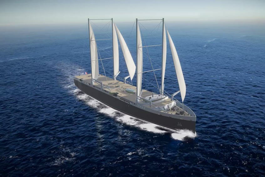 Neoline intends to introduce a liner service between France, Saint Pierre and Miquelon, Halifax and Baltimore using a unique cargo ship with sails.