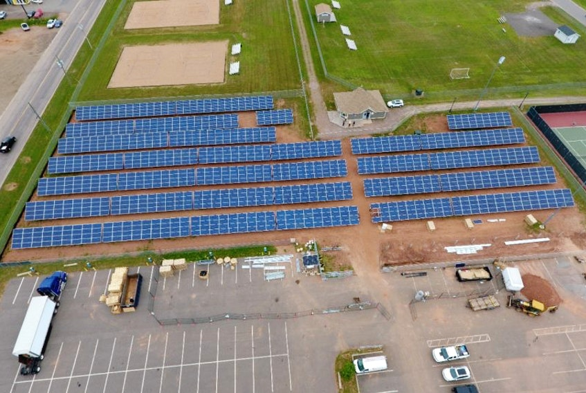 The City of Summerside's new solar farm is under construction and scheduled to be completed in September .