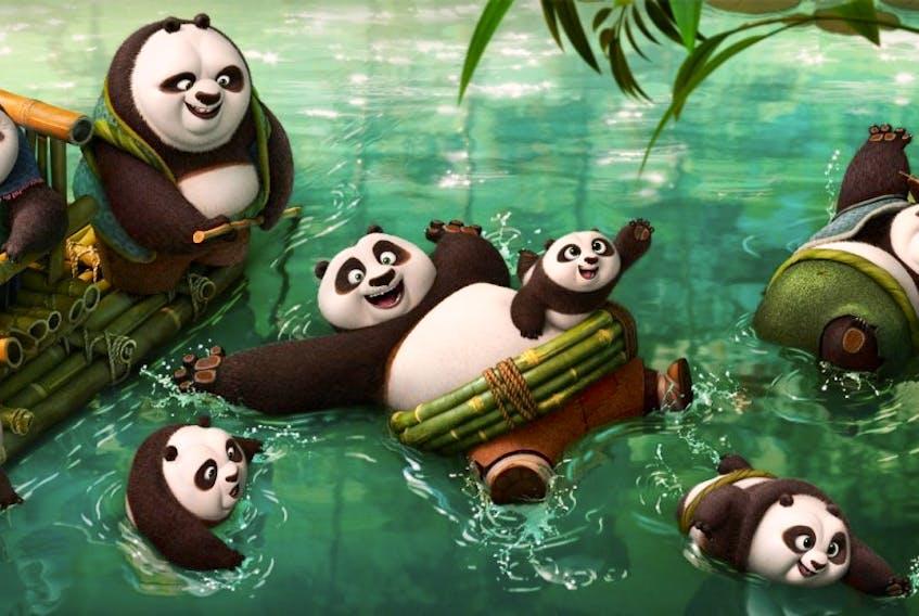 """Scene from """"Kung Fu Panda 3""""."""