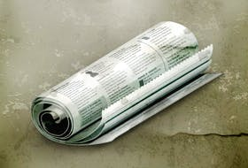 Rolled Newspaper, vector