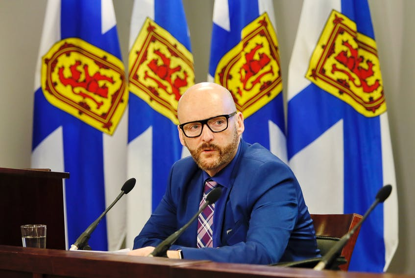 Nova Scotia auditor general Michael Pickup talks to reporters after the release of his latest report Tuesday, May 28, 2019.