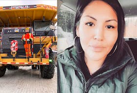 Pishum Penashue graduated from the Operation Engineers College in Holyrood last September. At 26, she is the youngest Innu woman to operate a 100-tonne 777 haul truck at the Vale's Voisey's Bay mine in Labrador. — Contributed