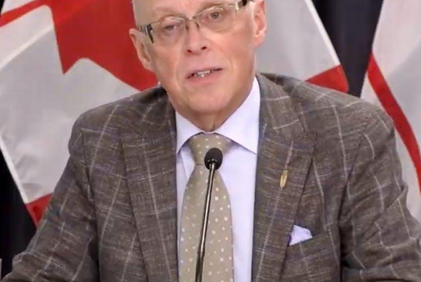 Health Minister Dr. John Haggie. SCREEN GRAB