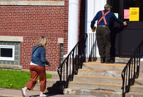 Voters cast their ballots at the First United Church in Truro as part of Nova Scotia's 40th general election May 30.