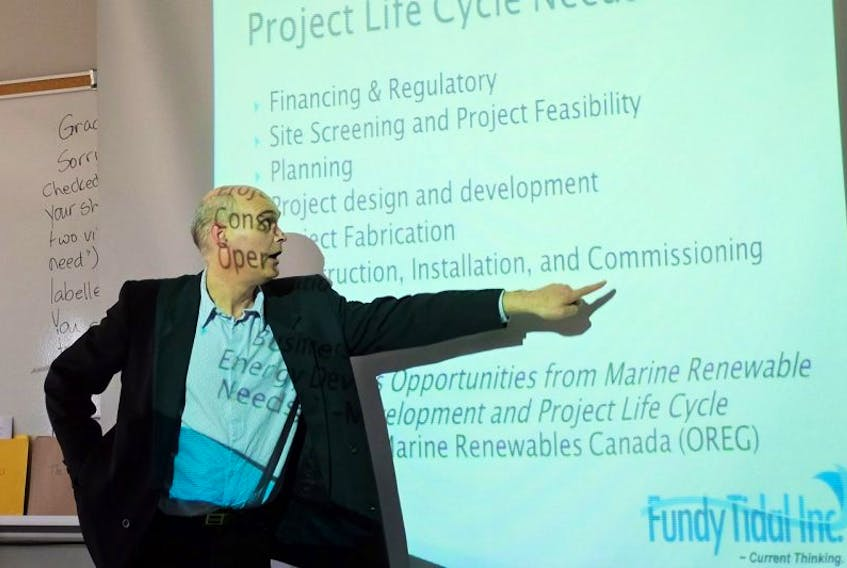 <p>Dana Morin of Fundy Tidal Inc., is among speakers at September's renewable energy symposium, part of Digby Port Days.</p>