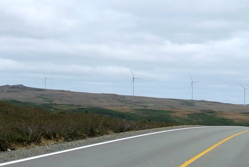 There are only two commercial wind farms in Newfoundland and Labrador. This one is Elemental Energy's farm in St. Lawrence. — Barb Dean-Simmons/SaltWire Network