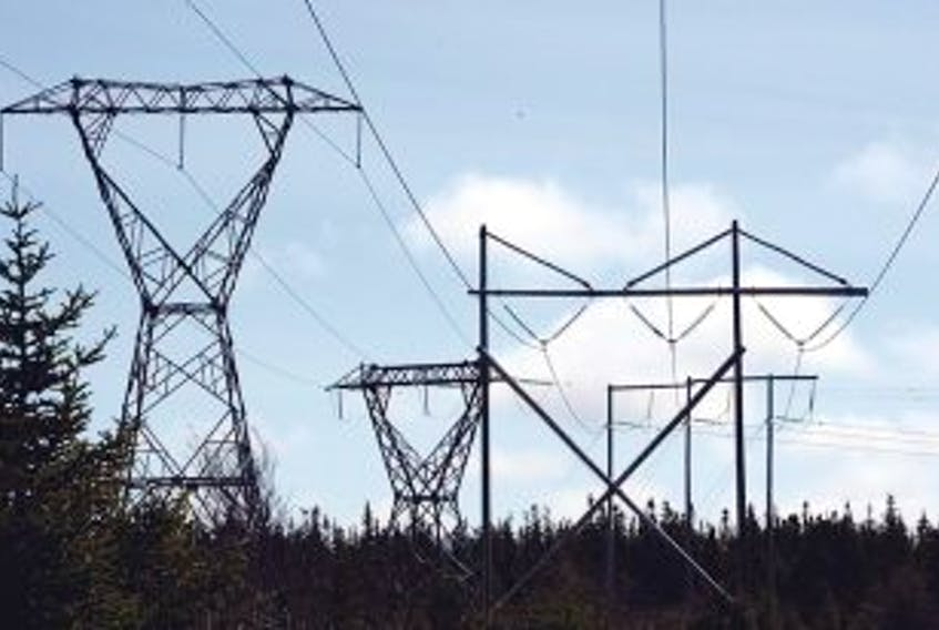 ['Power lines. — Photo by Joe Gibbons/The Telegram']