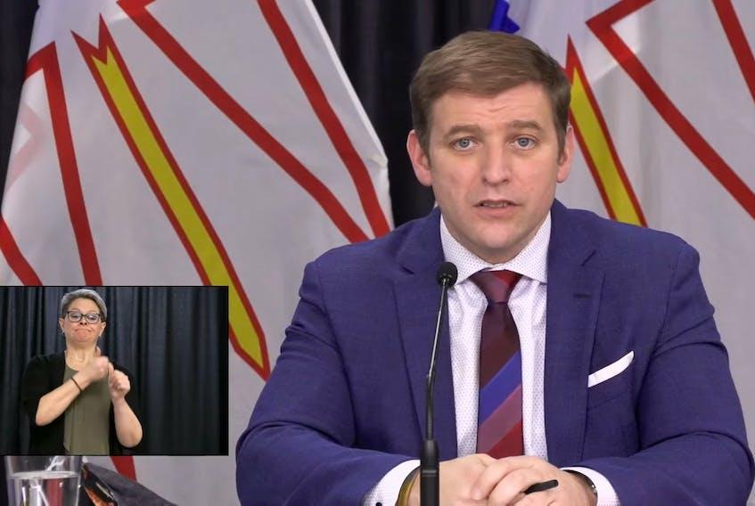 Premier Andrew Furey. — Video Screengrab
