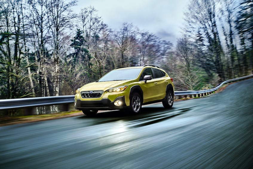 A new engine and standard driver-assist safety technologies are part of the 2021 Subaru Crosstrek. — Handout