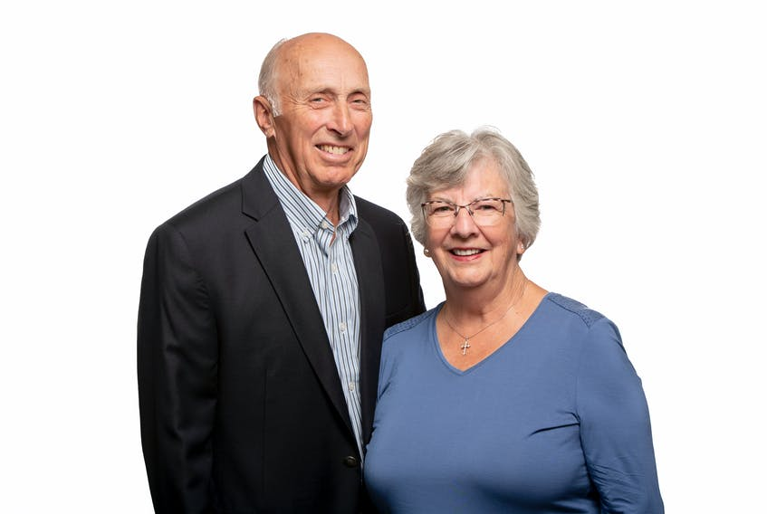 Brian and Monica Shebib co-chair the fundraising effort for a new hospice in Cape Breton. The campaign has a goal of raising another $1 million. The building is now under construction. CONTRIBUTED