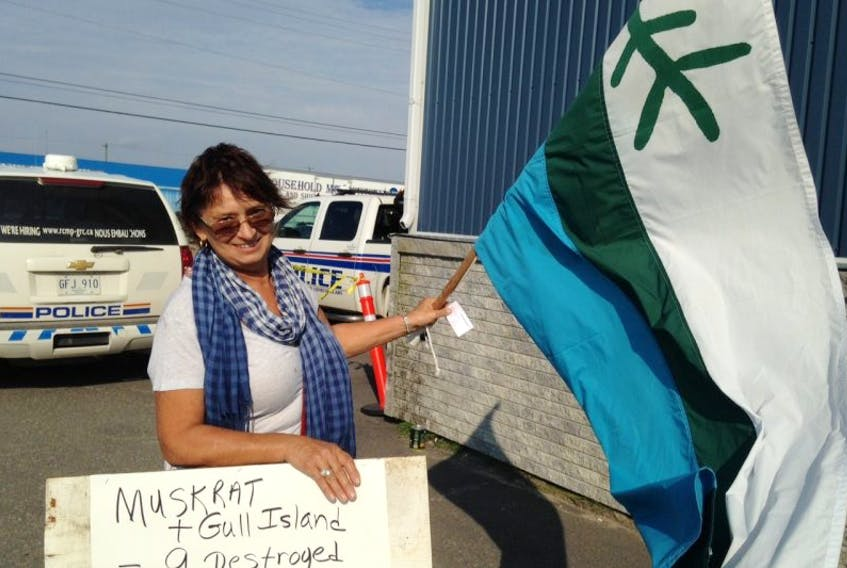 <p>Roberta Benefiel feels Labradorians need to stand up more for what they believe in when it comes to resource development in their own backyard. Benefiel, along with a handful of others, protested outside Hotel North 2 in Happy Valley-Goose Bay, where the Premiers meeting with national Aboriginal organization leaders got underway.</p>
