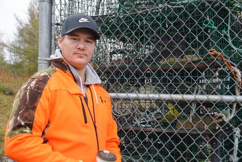 Evan Johnson is a harvester with Potlotek First Nation and says 35 of his lobster traps are at the DFO depot in Lennox Passage. OSCAR BAKER III/THE CAPE BRETON POST