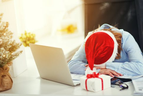 The holidays are a busy time of year, but being excessively sleepy during the day could be a symptom of Obstructive Sleep Apnea. Photo Credit: 123RF