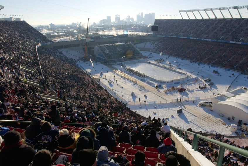 The 2003 Heritage Classic held in Edmonton's Commonwealth Stadium on Nov 22, 2003, was the NHL's first-ever outdoor game. The Montreal Canadiens beat the Edmonton Oilers 4-3 in front of 57,167 fans.