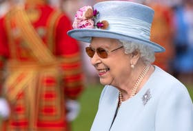 Queen Elizabeth II attending the Royal Garden Party at Buckingham Palace in 2019. The garden parites have been cancelled for 2021.