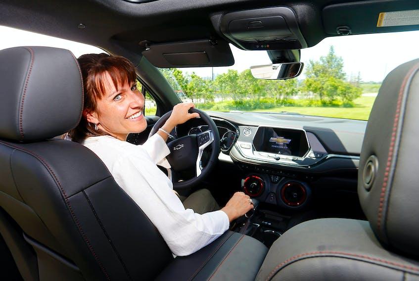 Carolin Adie at the wheel of the Chevrolet Blazer RS. —Darren Makowichuk