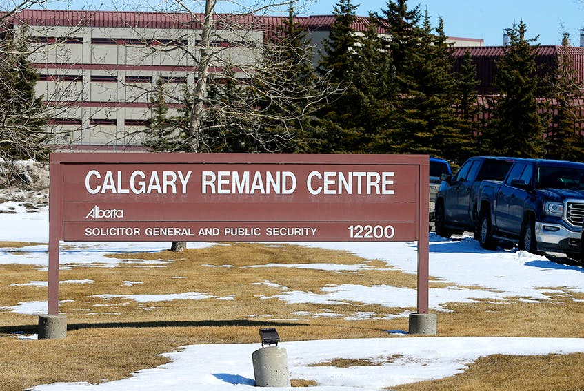 The Calgary Remand Centre in Calgary on Thursday, March 26, 2020.