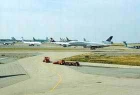 Some of the 38 planes that were diverted to Gander International Airport Sept. 11, 2001 because of terrorist attacks in the United States. — Transcontinental Media file photo