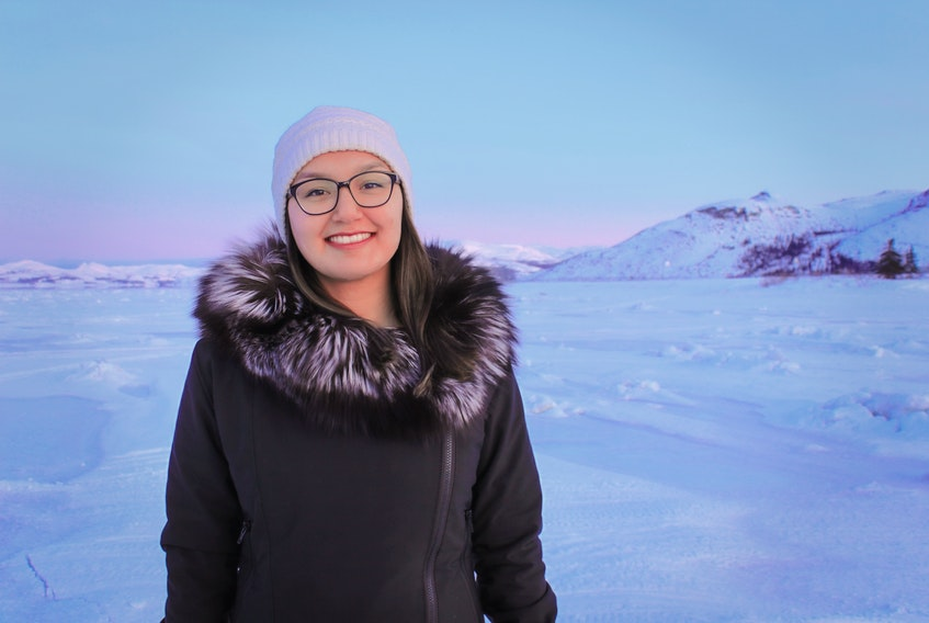 Memorial University student Julia Dicker of Nain is going to move to St. John's to do online courses, since it would be too difficult in the small Labrador town. - CONTRIBUTED