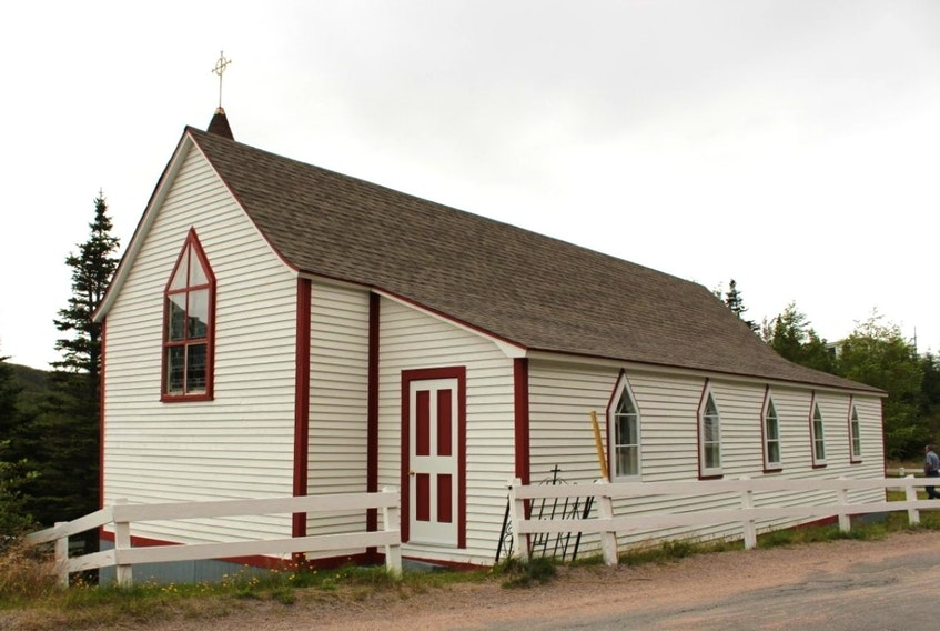 St. Luke's Anglican Church in Old Bonaventure, seen here in a photo from the Heritage Foundation of Newfoundland and Labrador website, is the subject of a legal action in the province's Supreme Court. Residents of the community were successful last week in obtaining an injunction stopping the Trinity Historical Society from selling the church until their statement of claim has been dealt with.