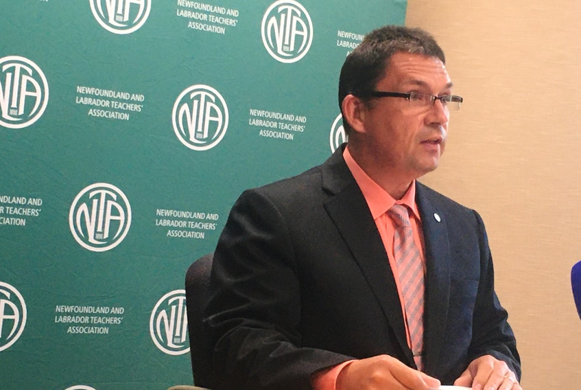 Newfoundland and Labrador Teachers' Association president Dean Ingram. TELEGRAM FILE PHOTO