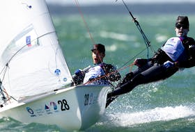 Oliver Bone and Jacob Saunders of the Royal Nova Scotia Yacht Squadron were selected Thursday to represent Canada at the Summer Olympics in Japan. The pair will compete together in the men's 470 two-person dinghy. - Sail Canada