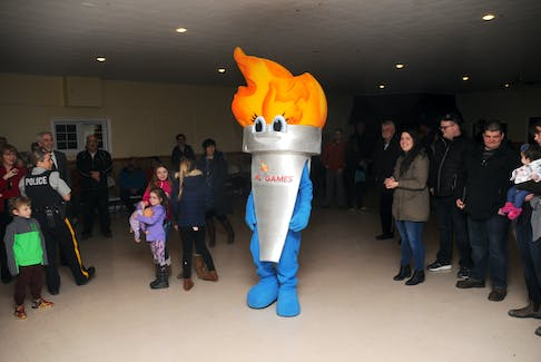 A 2018 photo shows Newfoundland and Labrador Summer Games mascot Blaze in Bay Roberts after it was announced the town would host the 2020 games. Those Games — scheduled for Aug.15-22 — may be postponed as a result of the COVID-19 pandemic, The Telegram has learned. — File photo
