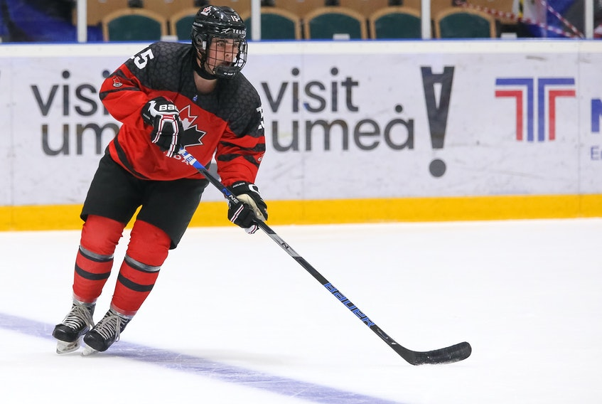 Alex Newhook of St. John's.  — Hockey Canada photo