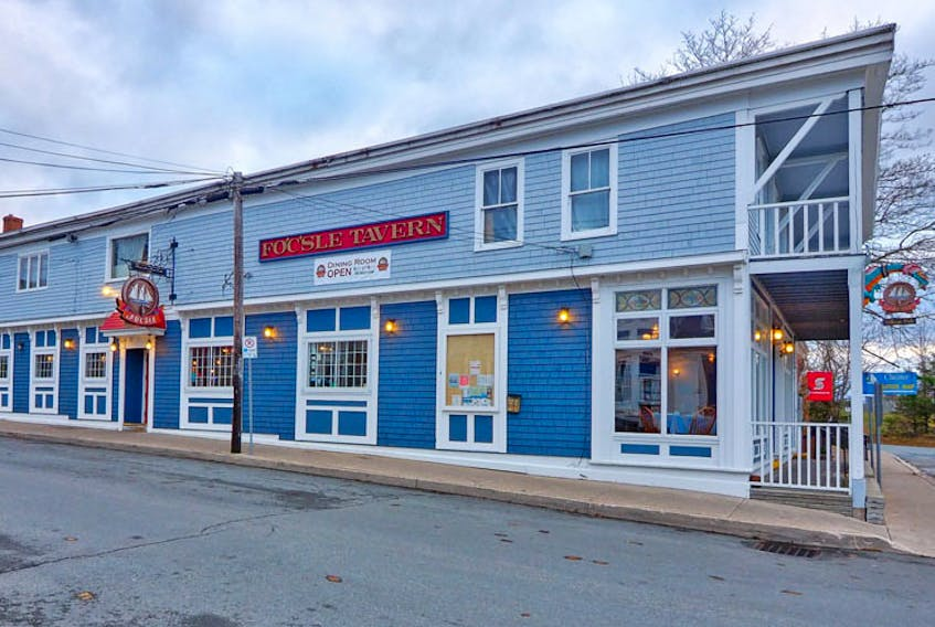 Depending on where you sit at the Fo'c'sle Tavern, you're said to be in a former grocery store, stable, inn or tavern dating back to 1764. CONTRIBUTED
