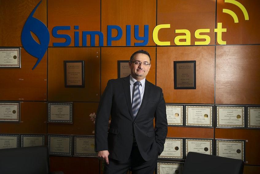 SimplyCast CEO Saeed El-Darahali at his company's Dartmouth office on Tuesday, November 17, 2020. Ryan Taplin - The Chronicle Herald