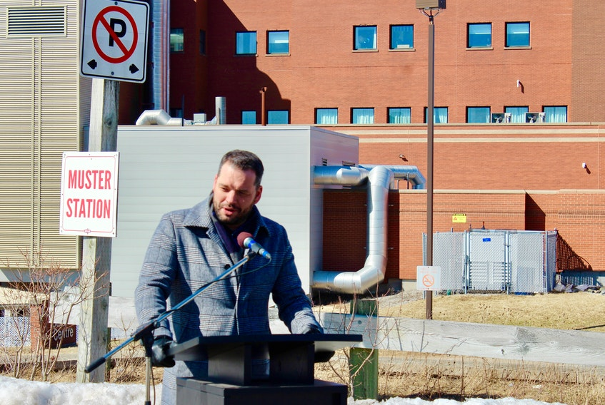 Nova Scotia's Education and Early Childhood Development Minister Derek Mombourquette announced funding for repairs to the Cape Breton Regional Hospital on Wednesday. ELIZABETH PATTERSON • CAPE BRETON POST