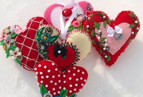 February's cold days of mid-winter are always made to feel warmer because of Valentine's Day — the day of love. And nothing says love like something handmade from the heart, like these handmade felt hearts. Rosemary Godin/Contributed