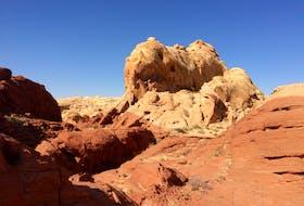 Sandstone escarpment, deep in the Valley of Fire. — Russell Wangersky/SaltWire Network